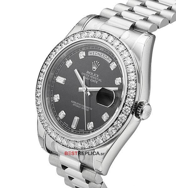 White Gold Diamond Bezel Rolex