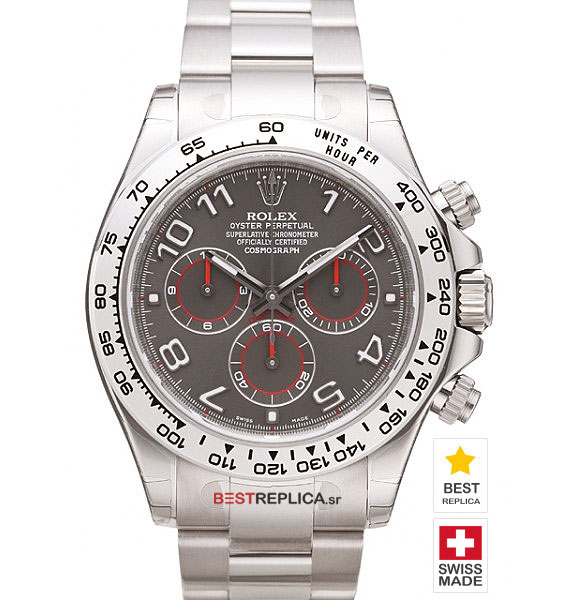 Rolex Cosmograph Daytona Ss 18ct White Gold Grey Dial Bestreplica