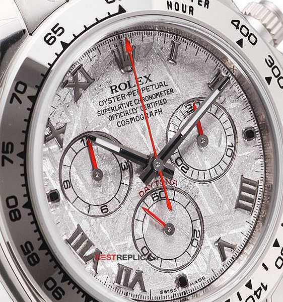 Rolex Cosmograph Daytona SS 18 ct White Gold Meteorite Dial