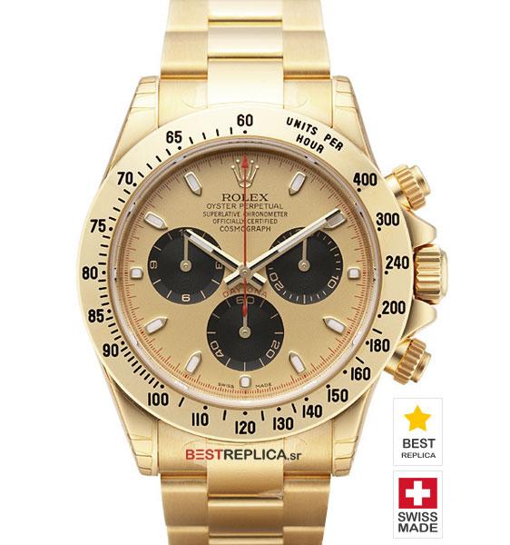 Rolex Cosmograph Daytona Gold Newman Dial 18k Gold Bestreplica