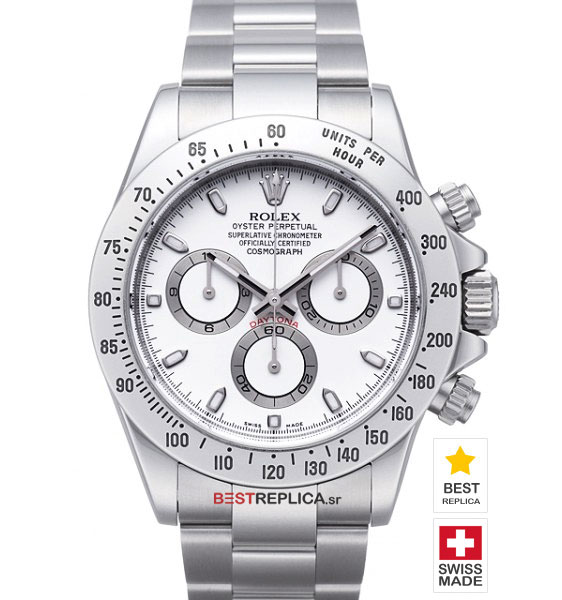 Rolex Cosmograph Daytona White Dial SS