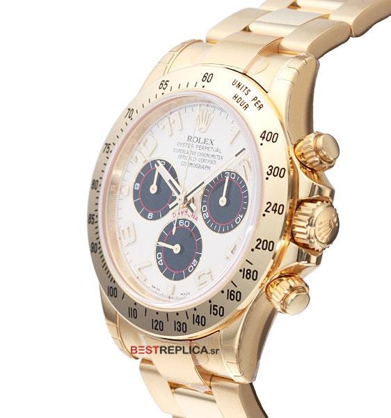 Rolex Cosmograph Daytona White Dial 18k Gold Bestreplica