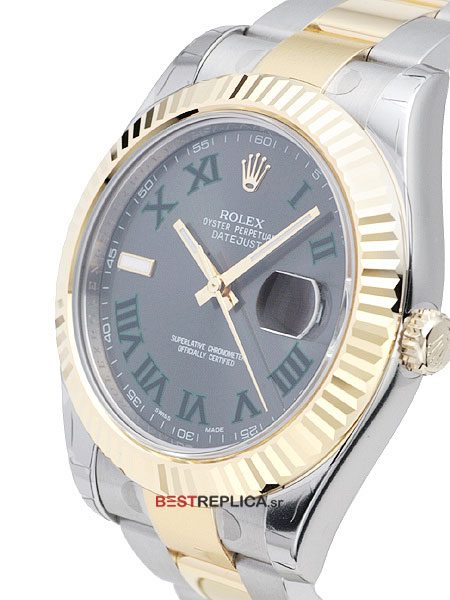 Rolex-Datejust-2-tone-Oyster-Fluted-Grey-Roman-side