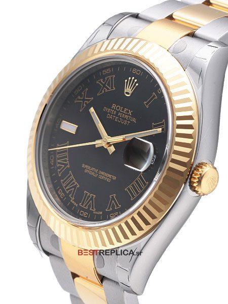 Rolex-Datejust-2-tone-Oyster-Fluted-black-Roman.B