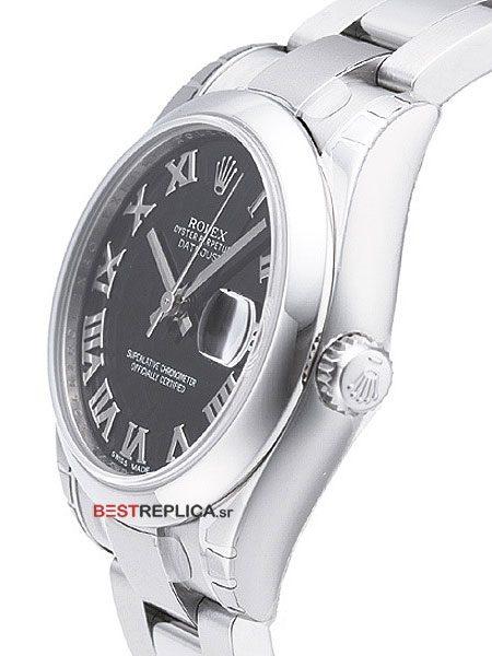 Rolex-Datejust-36mm-SS-Black-Roman-Dial-side