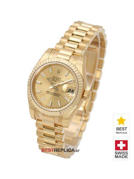 Rolex Datejust Gold Dial