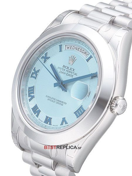 Rolex-Day-Date-II-SS-Blue-Ray-Dial-Roman-B