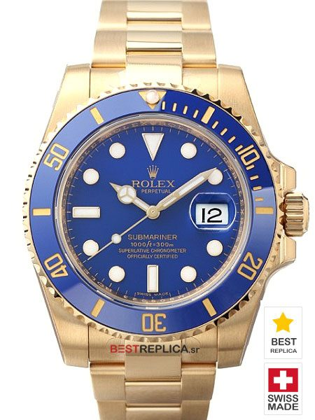 Rolex-Submariner-18k-gold-Blue-Ceramic