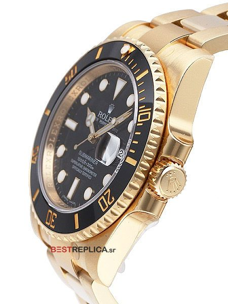 Rolex-Submariner-18k-gold-black-Ceramic-side