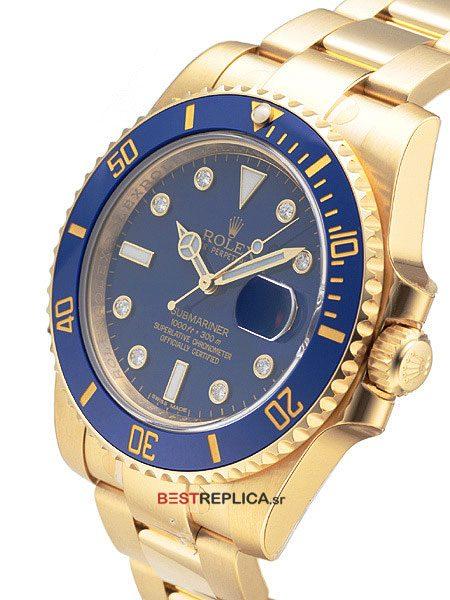 Rolex-Submariner-18k-gold-blue-Ceramic-diamonds-side