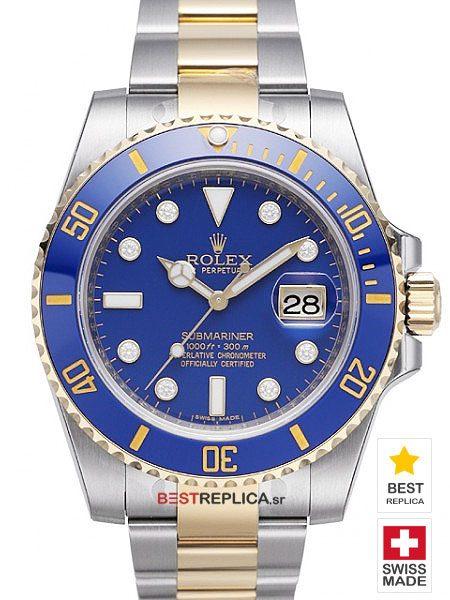 Rolex-Submariner-2tone-Blue-Ceramic-Diamond-Markers