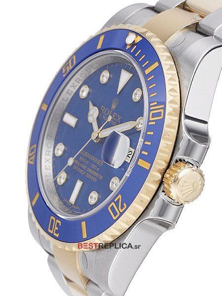 Rolex-Submariner-2tone-Blue-Ceramic-Diamond-Markers-side