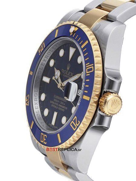 Rolex-Submariner-Blue-Ceramic-2tone-Date-side