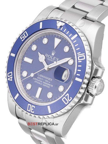 Rolex-Submariner-Blue-Ceramic-Diamond-Markers-side