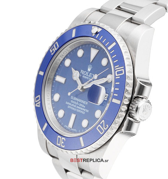 Rolex Submariner Blue Face Stainless Steel