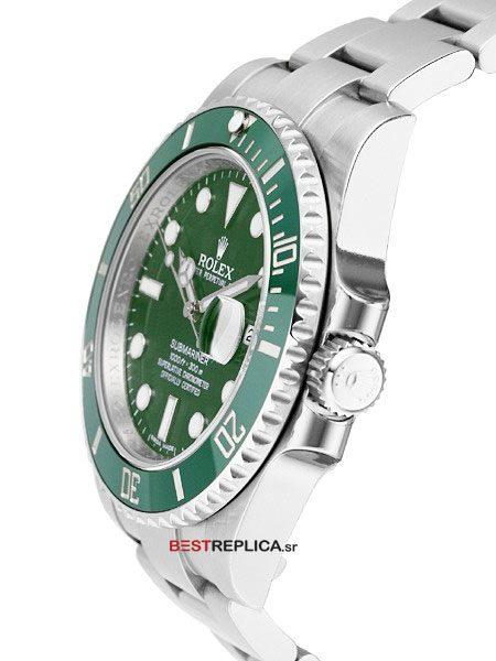 Rolex-Submariner-Green-Ceramic-SS-Date-side
