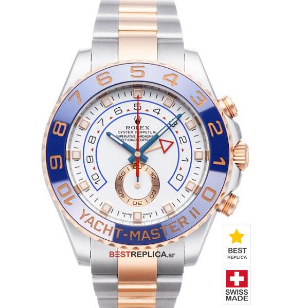 Rolex Yacht,Master II SS / Everose Gold Blue Ceramic Bezel