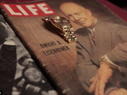 Gold Rolex given to D-Day hero President Eisenhower expected to fetch $1MILLION