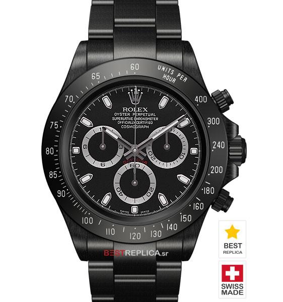 Rolex Cosmograph Daytona DLC Black/Silver Dial