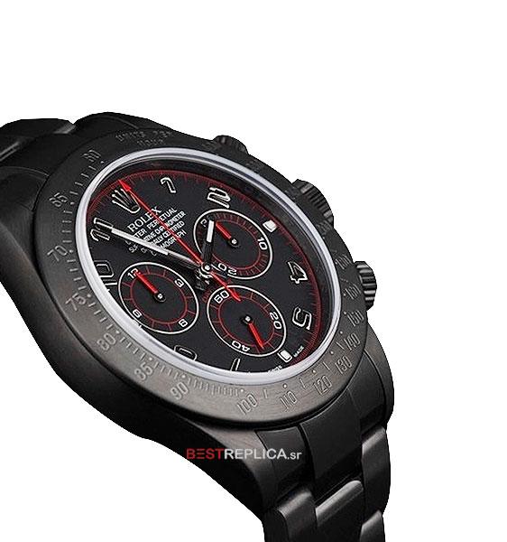 Rolex Cosmograph Daytona DLC Black/Red Dial