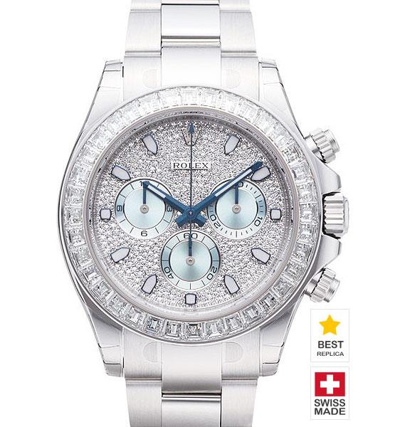 Rolex Cosmograph Daytona 18k White Gold Diamond Dial Bezel