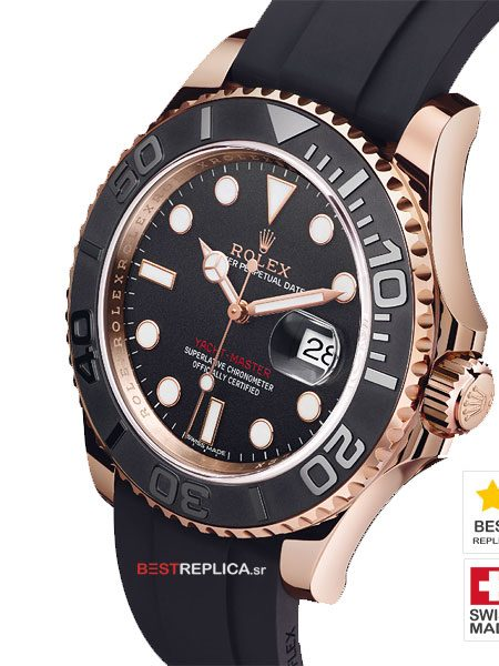 Yacht-Master-Everose-Rubber-strap